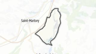 Térkép / Mazères-sur-Salat