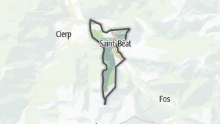 Térkép / Saint-Béat