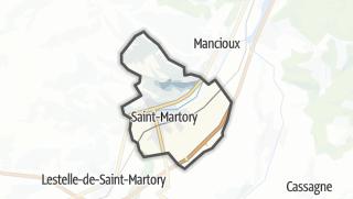 Térkép / Saint-Martory