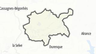 Hartă / Auriac-Lagast