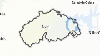 Hartă / Arvieu