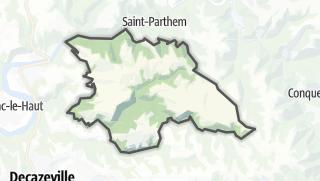 Hartă / Almont-les-Junies