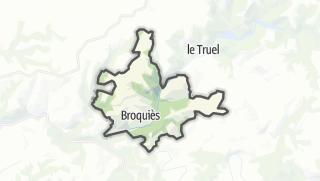 Hartă / Broquiès