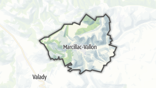 Hartă / Marcillac-Vallon