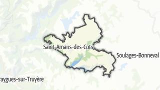 Hartă / Saint-Amans-des-Cots