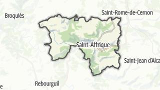 Hartă / Saint-Affrique