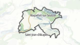 Hartă / Roquefort-sur-Soulzon