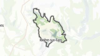 Hartă / Rivière-sur-Tarn