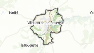Hartă / Villefranche-de-Rouergue