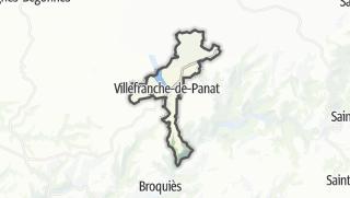 Hartă / Villefranche-de-Panat