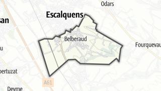 Térkép / Belberaud