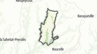 Hartă / Sauveterre-de-Rouergue