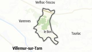 Térkép / Le Born