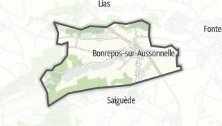 Térkép / Bonrepos-sur-Aussonnelle