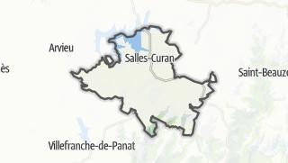 Hartă / Salles-Curan