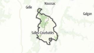 Hartă / Salles-Courbatiès