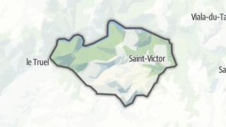 Hartă / Saint-Victor-et-Melvieu