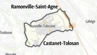 Térkép / Auzeville-Tolosane