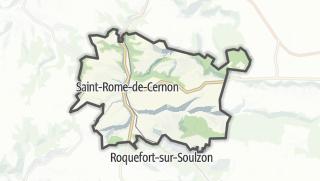 Hartă / Saint-Rome-de-Cernon