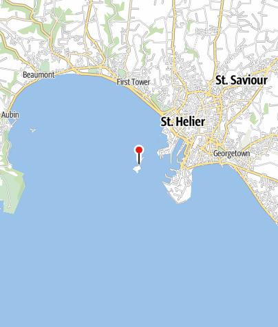 Karte / Elizabeth Castle in St. Helier