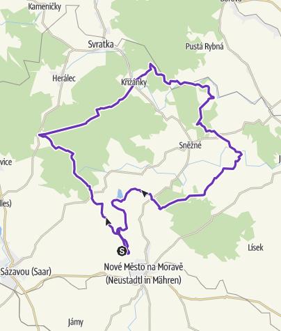 Map / Horská výzva 2020: Vysočina - LONG