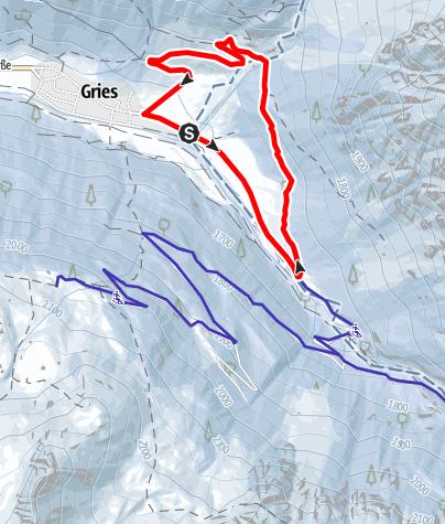 Karte / Winnebachrunde -  Längenfeld/Gries