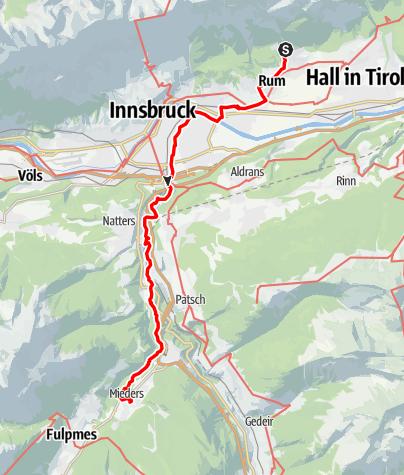 Karte / Romedius Pilgerweg