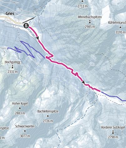 Map / Sulztalalm - Längenfeld/Gries