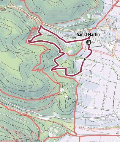 Karte / Wanderfit - Der Martinusweg bei St. Martin