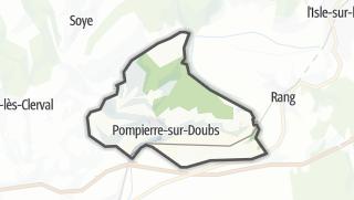 Térkép / Pompierre-sur-Doubs
