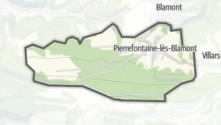 Mapa / Pierrefontaine-lès-Blamont