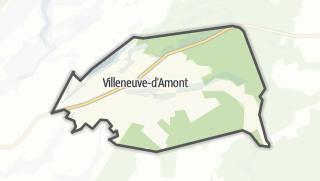 Mapa / Villeneuve-d'Amont