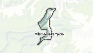 Térkép / Villars-sous-Dampjoux