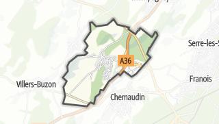 Térkép / Vaux-les-Prés