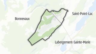 Mapa / Vaux-et-Chantegrue