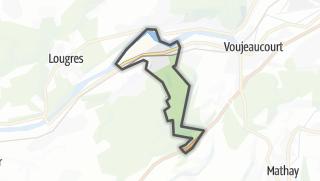 Térkép / Dampierre-sur-le-Doubs