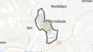 Térkép / Courcelles-lès-Montbéliard