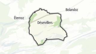 Térkép / Déservillers