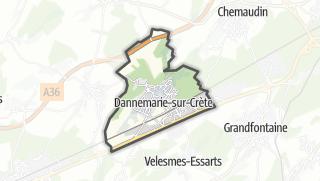 Térkép / Dannemarie-sur-Crète