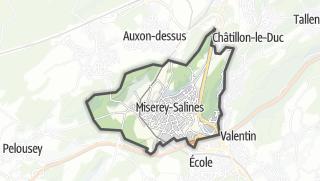 Mapa / Miserey-Salines