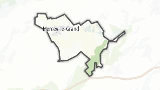 Térkép / Mercey-le-Grand