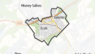 Mapa / Ecole-Valentin
