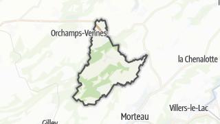 Térkép / Fournets-Luisans