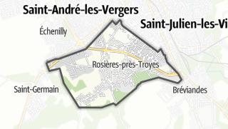 Mapa / Rosières-près-Troyes