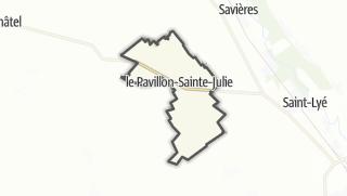 Mapa / Le Pavillon-Sainte-Julie