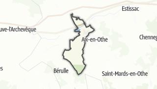 Mapa / Paisy-Cosdon