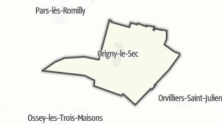 Mapa / Origny-le-Sec