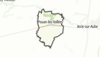 Mapa / Pouan-les-Vallées