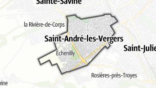 Mapa / Saint-André-les-Vergers
