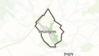 Mapa / Crésantignes